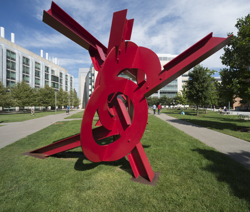 """Aesop's Fables II,"" by Mark di Suvero, is part of MIT's public art collection."